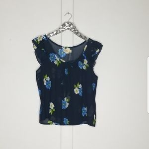 NWT Hollister   floral print blouse size large